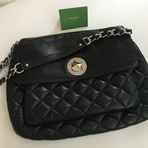 5ad37f9c24 kate spade Bags - Kate Spade NY Corinne Gold Coast Black Quilted Bag